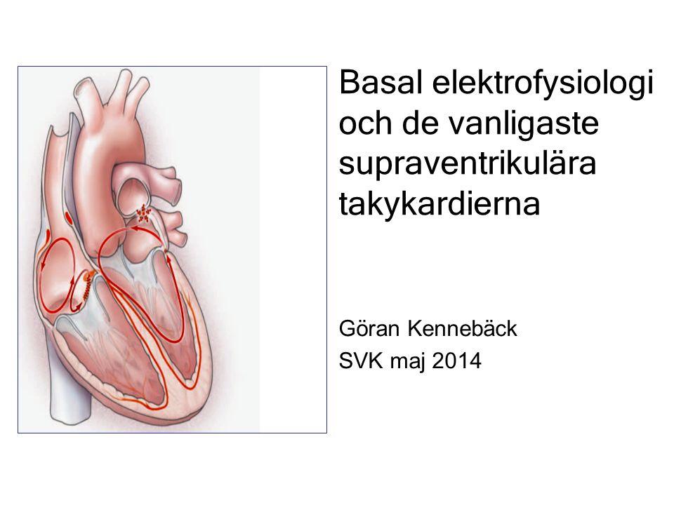 Basal elektrofysiologi och de vanligaste supraventrikulära takykardierna Göran Kennebäck SVK maj 2014