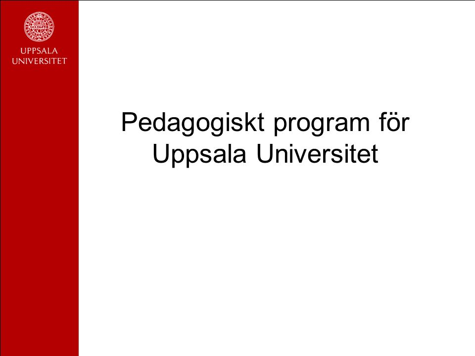 Pedagogiskt program för Uppsala Universitet
