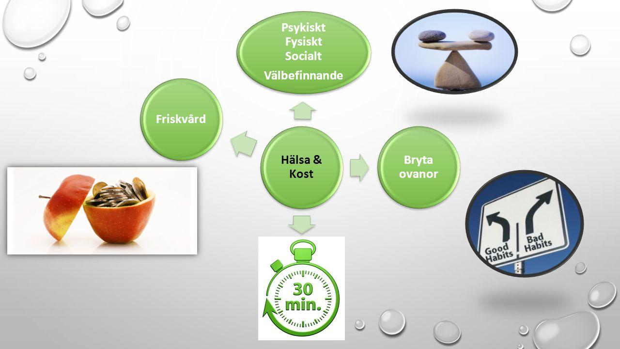 Hälsa & Kost Psykiskt Fysiskt Socialt Välbefinnande Bryta ovanor 30minFriskvård