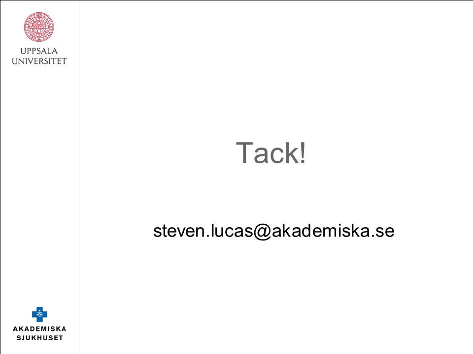 Tack! steven.lucas@akademiska.se
