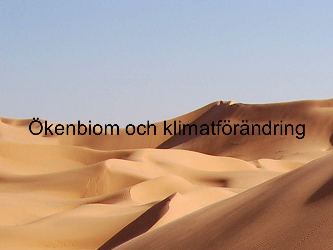 Ökenbiom och klimatförändring