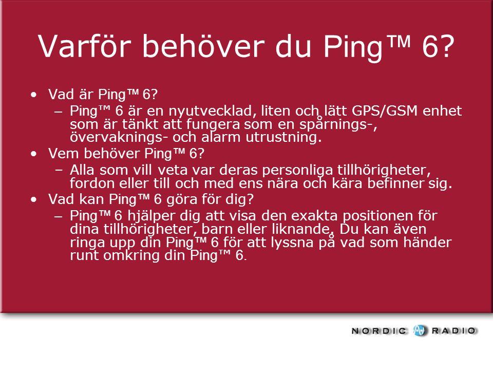Varför behöver du Ping™ 6 . Vad är Ping™ 6 .