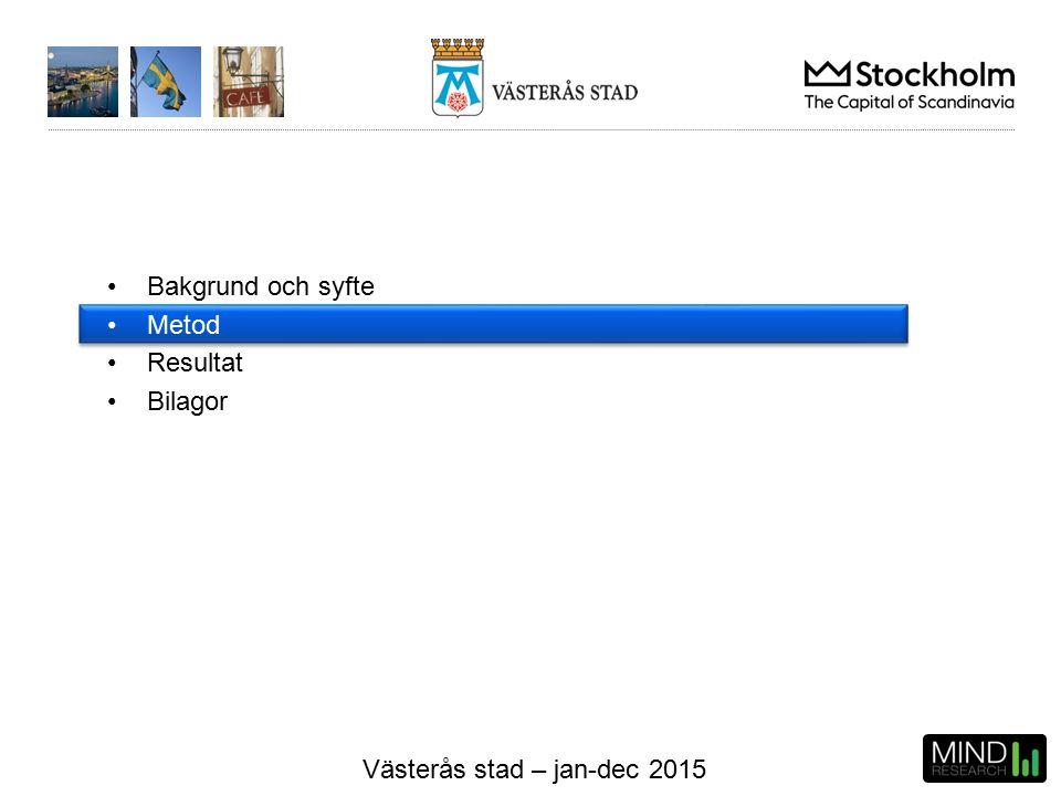 Västerås stad – jan-dec 2015 Resultat - prioriteringsmatris Kommunens medelindex och medeleffekt BYGGLOV Kommentar: Det som bör prioriteras först är Effektivitet och därefter Tillgänglighet och Kompetens.