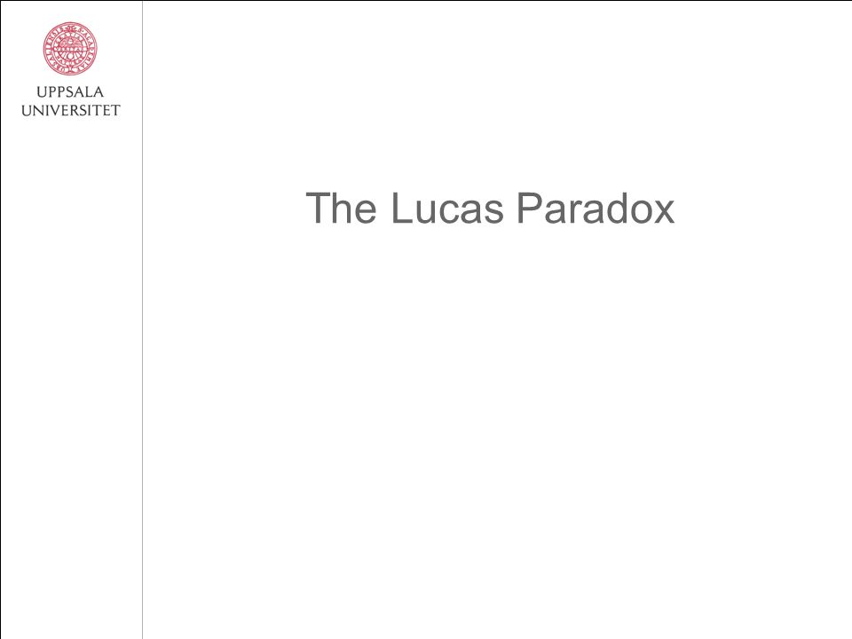 The Lucas Paradox