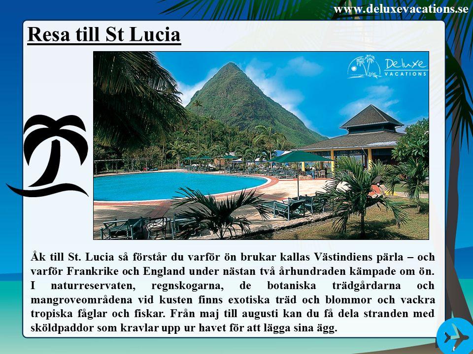 Resa till St Lucia Åk till St.