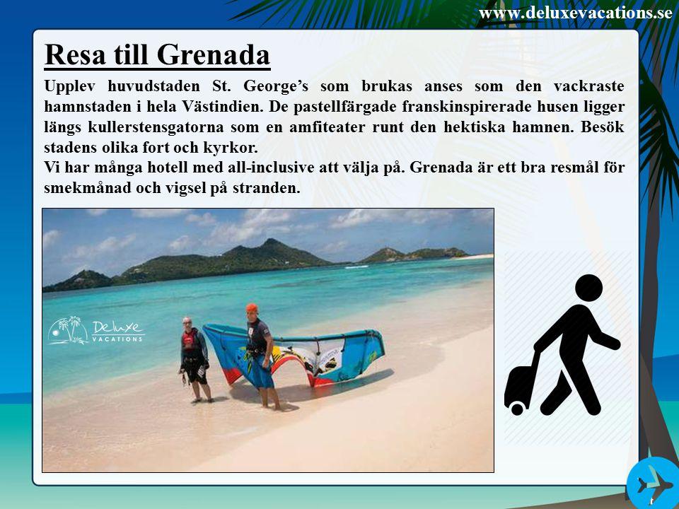 Resa till Grenada Upplev huvudstaden St. George's som brukas anses som den vackraste hamnstaden i hela Västindien. De pastellfärgade franskinspirerade