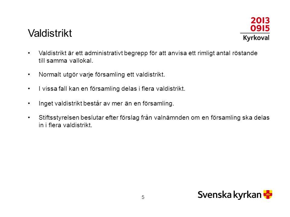 Rösträtt Tillhöra Svenska kyrkan 16 år senast på valdagen Vara folkbokförd inom det område valet avser 1 augusti valåret Upptagen i röstlängden 26