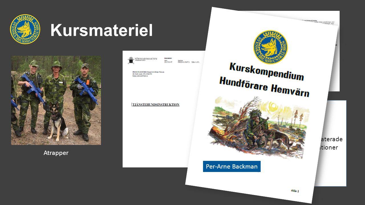 Kursmateriel Atrapper Andra relaterade publikationer Per-Arne Backman