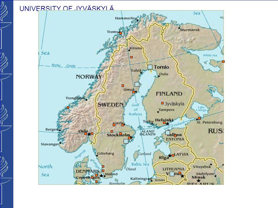 UNIVERSITY OF JYVÄSKYLÄ Tornio Jyväskyla