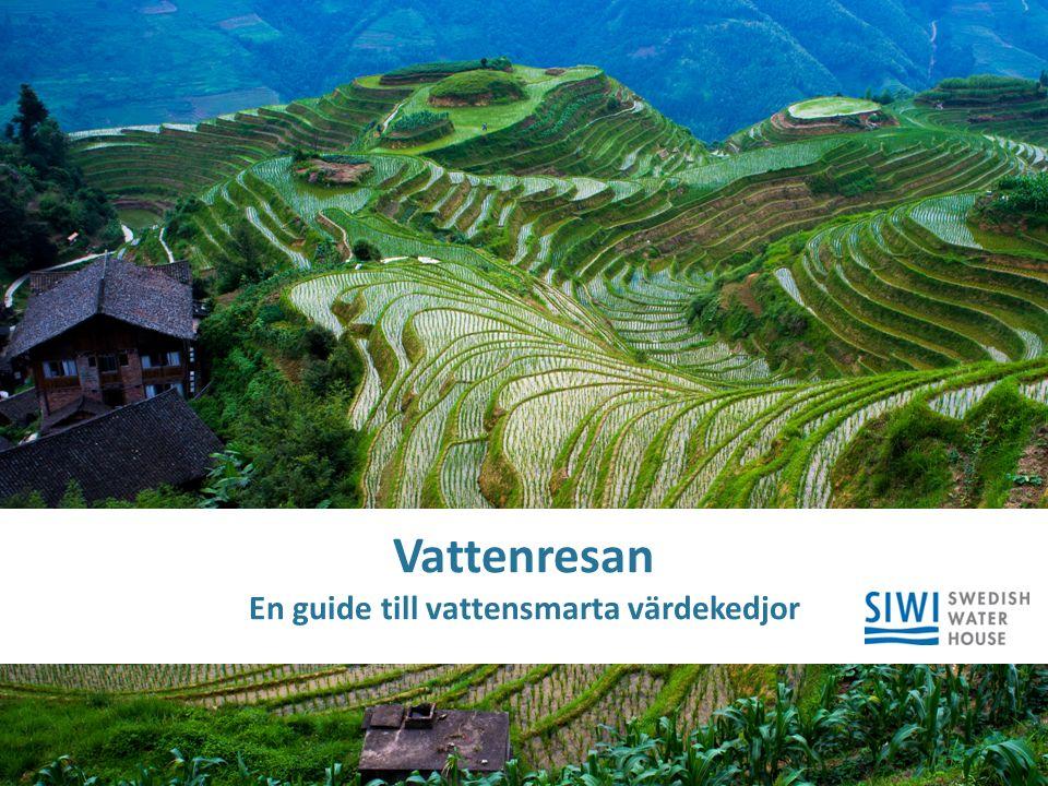 © SIWI | siwi.org Title Subtitle Vattenresan En guide till vattensmarta värdekedjor