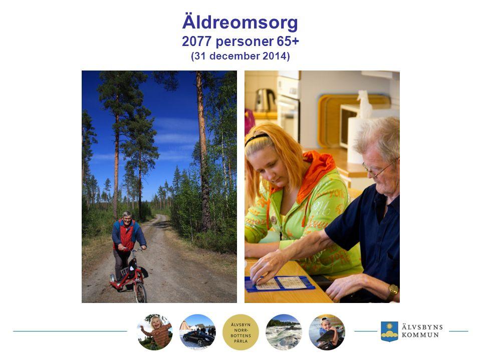 Äldreomsorg 2077 personer 65+ (31 december 2014)