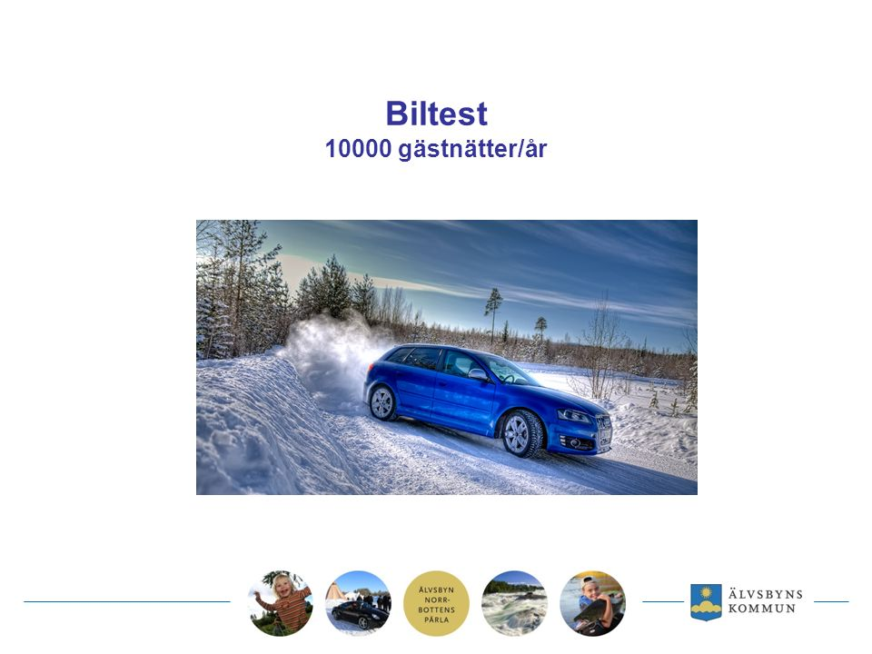 Biltest 10000 gästnätter/år