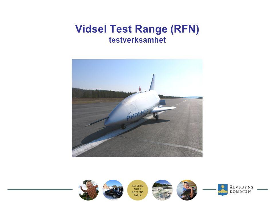 Vidsel Test Range (RFN) testverksamhet