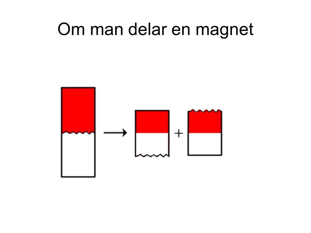 Om man delar en magnet