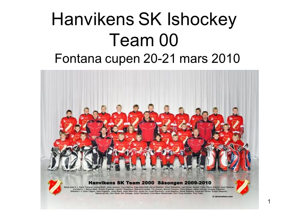 1 Hanvikens SK Ishockey Team 00 Fontana cupen 20-21 mars 2010