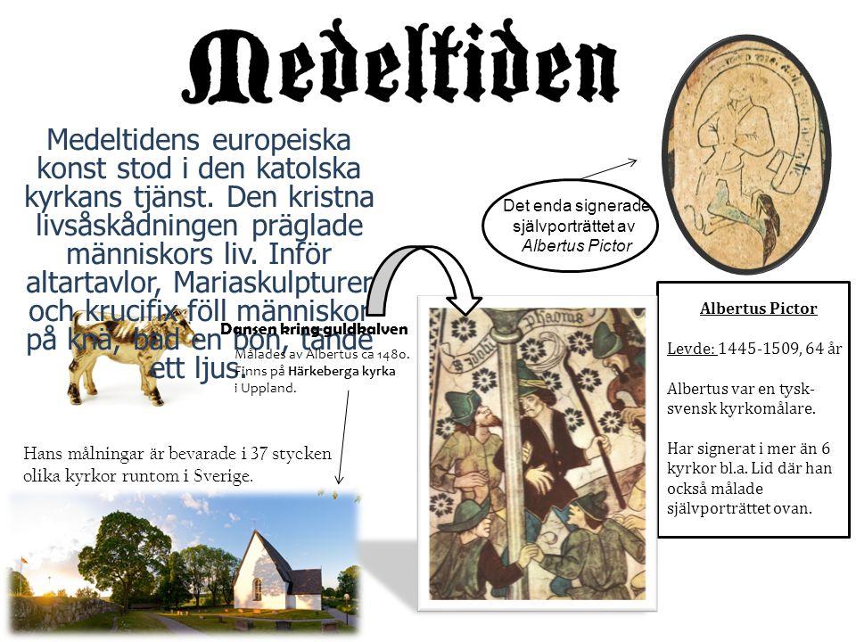 Medeltidens europeiska konst stod i den katolska kyrkans tjänst. Den kristna livsåskådningen präglade människors liv. Inför altartavlor, Mariaskulptur
