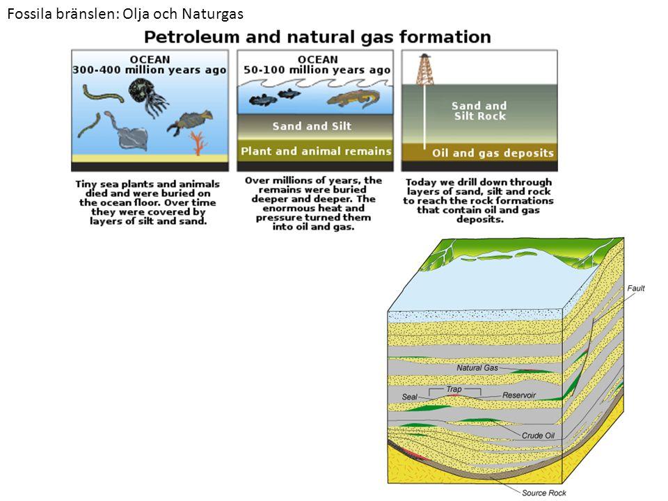 Fossila bränslen: Olja och Naturgas