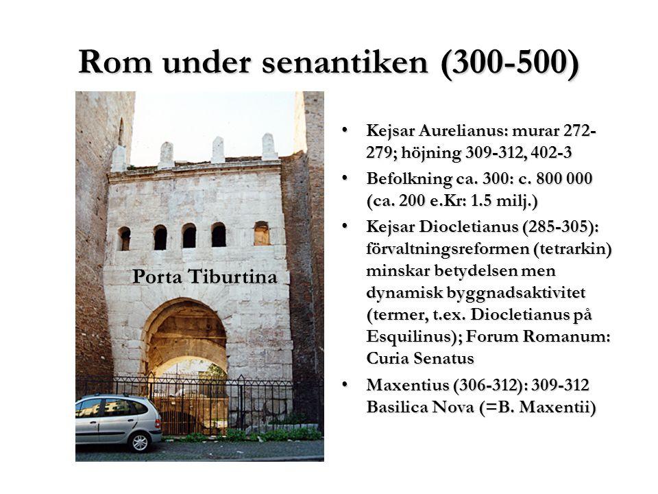 Disabitato ca 400-1800-t. Palatium och Celius från Aventinus