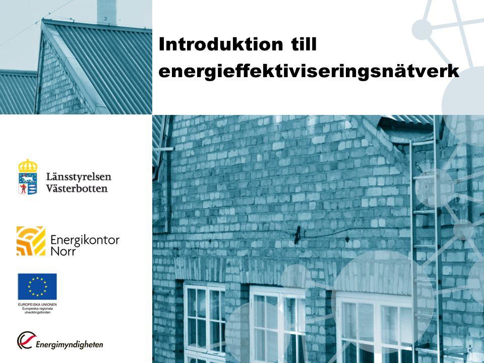 Introduktion till energieffektiviseringsnätverk