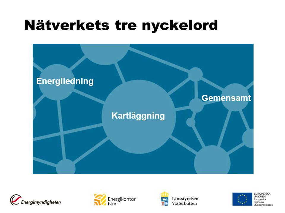 Nätverkets tre nyckelord Energiledning Gemensamt Kartläggning