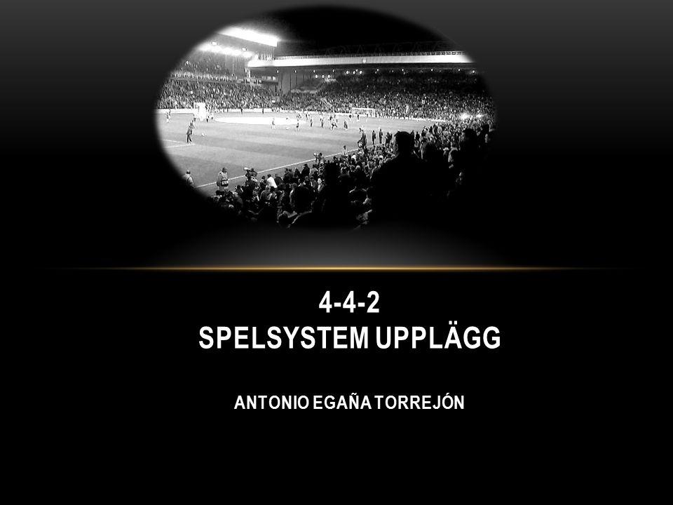 4-4-2 SPELSYSTEM UPPLÄGG ANTONIO EGAÑA TORREJÓN
