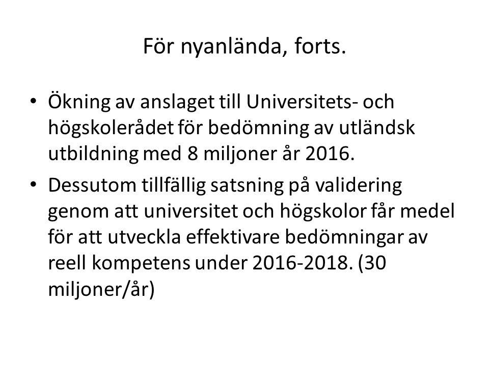 För arbetslösa Extratjänster införs.
