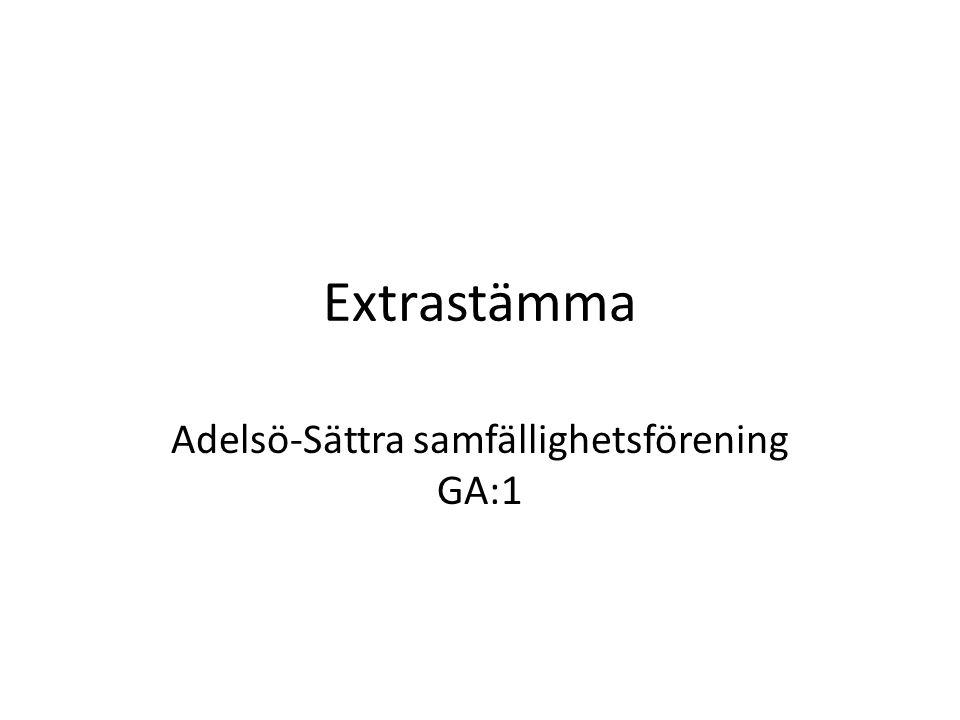 Extrastämma Adelsö-Sättra samfällighetsförening GA:1