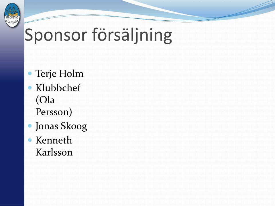 Sponsor försäljning Terje Holm Klubbchef (Ola Persson) Jonas Skoog Kenneth Karlsson