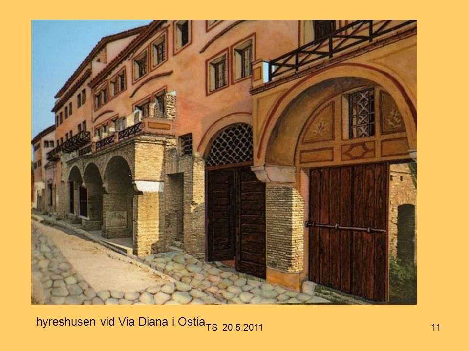 11 hyreshusen vid Via Diana i Ostia TS 20.5.2011