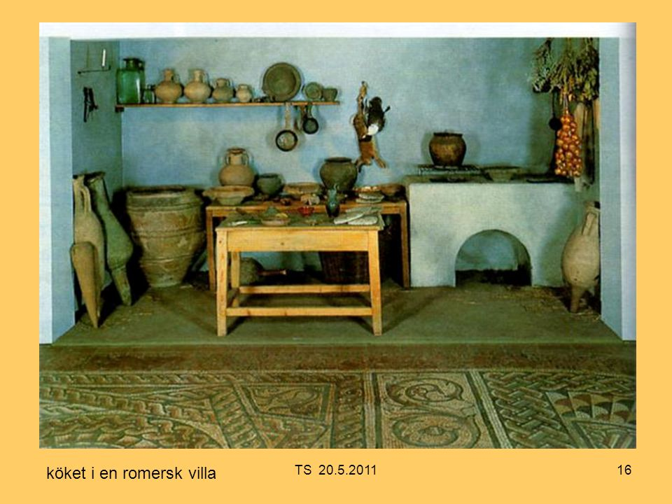 16 köket i en romersk villa TS 20.5.2011