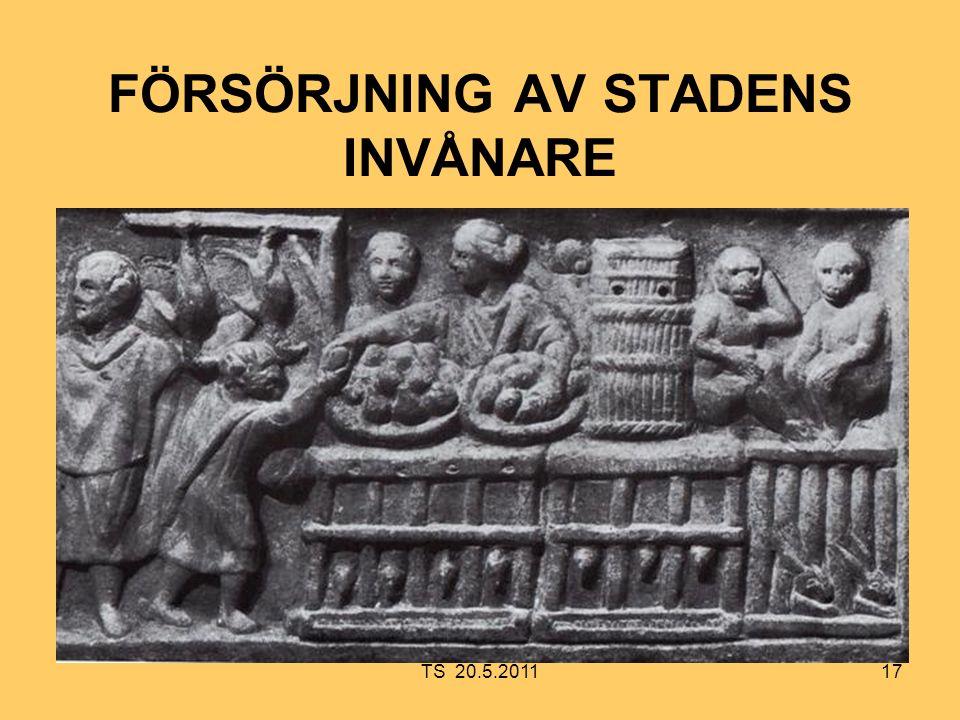 17 FÖRSÖRJNING AV STADENS INVÅNARE TS 20.5.2011