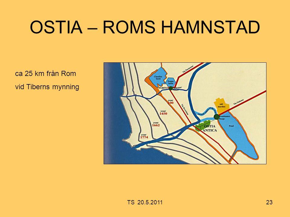23 OSTIA – ROMS HAMNSTAD ca 25 km från Rom vid Tiberns mynning TS 20.5.2011