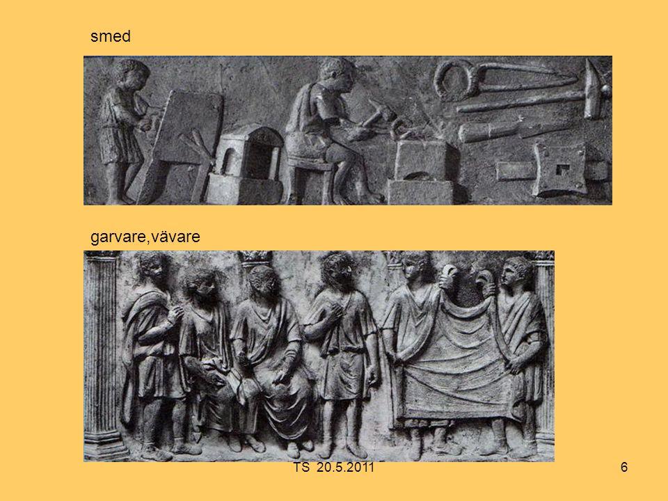 27 Efter lagringen i Ostia lastades alla varor i grundgående pråmar för vidare transport till Rom.
