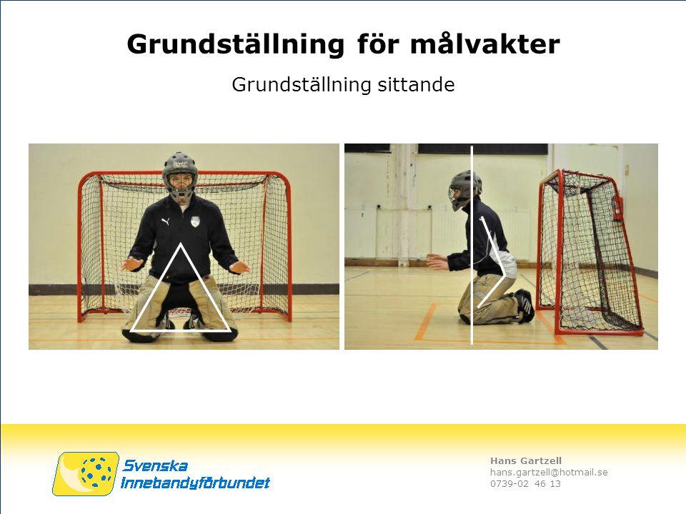Hans Gartzell hans.gartzell@hotmail.se 0739-02 46 13 Grundställning sittande Grundställning för målvakter