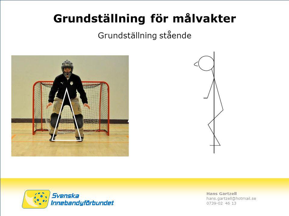 Hans Gartzell hans.gartzell@hotmail.se 0739-02 46 13 Grundställning stående Grundställning för målvakter