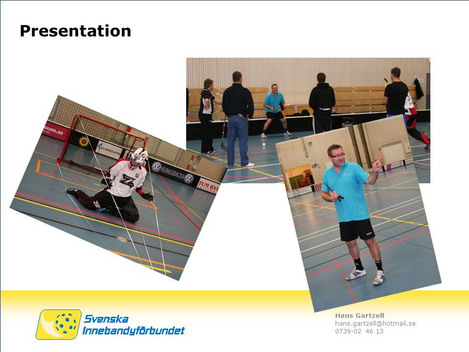 Hans Gartzell hans.gartzell@hotmail.se 0739-02 46 13 Presentation