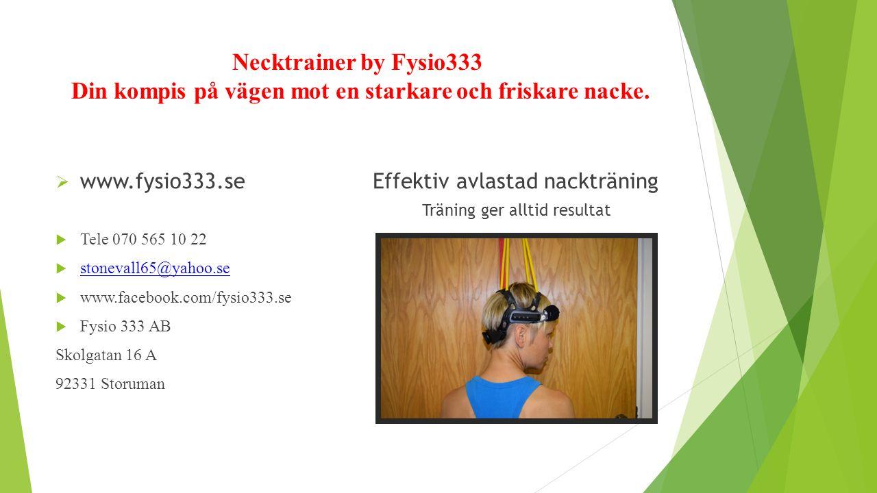 Necktrainer by Fysio333 Din kompis på vägen mot en starkare och friskare nacke.