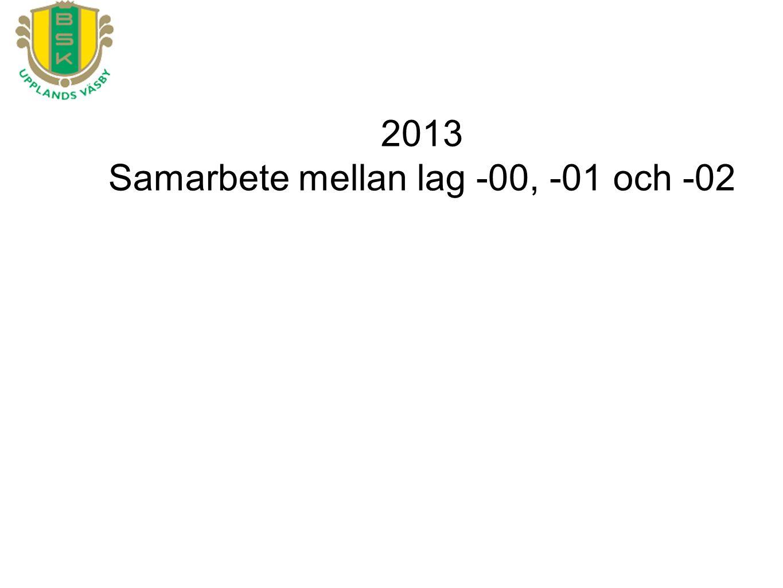 2013 Samarbete mellan lag -00, -01 och -02