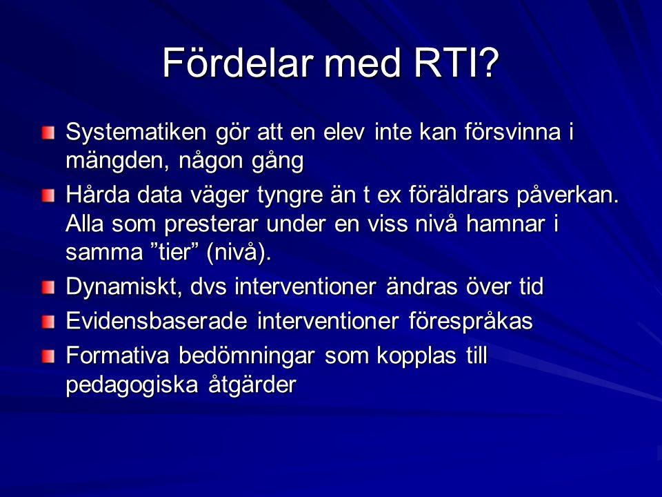 Fördelar med RTI.