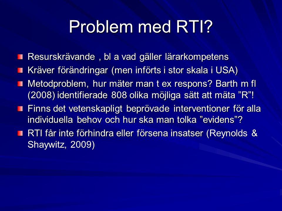 Problem med RTI.