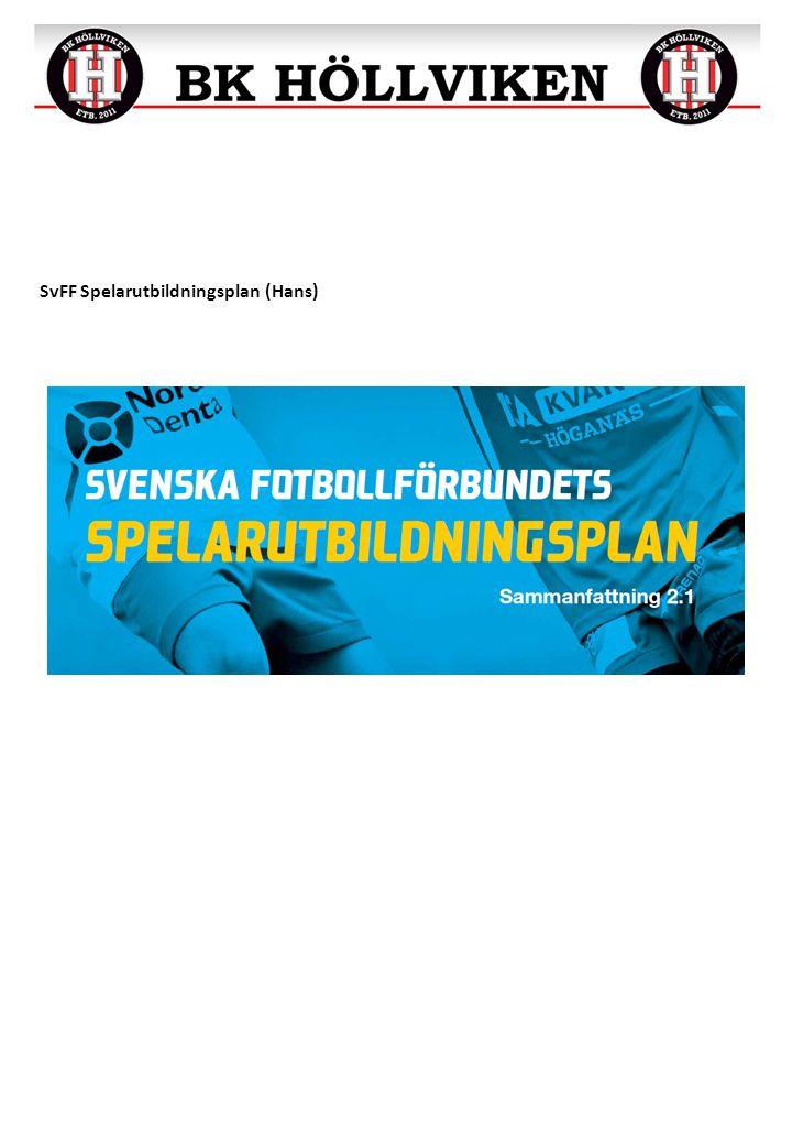 SvFF Spelarutbildningsplan (Hans)