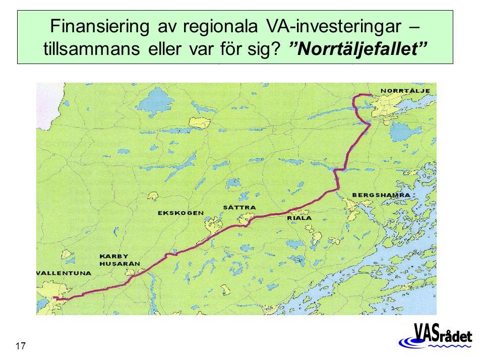 17 Finansiering av regionala VA-investeringar – tillsammans eller var för sig.