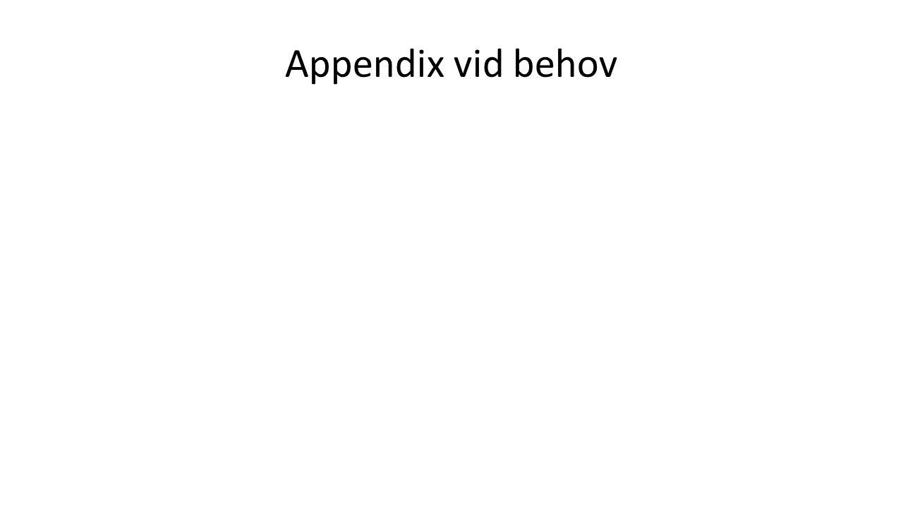 Appendix vid behov