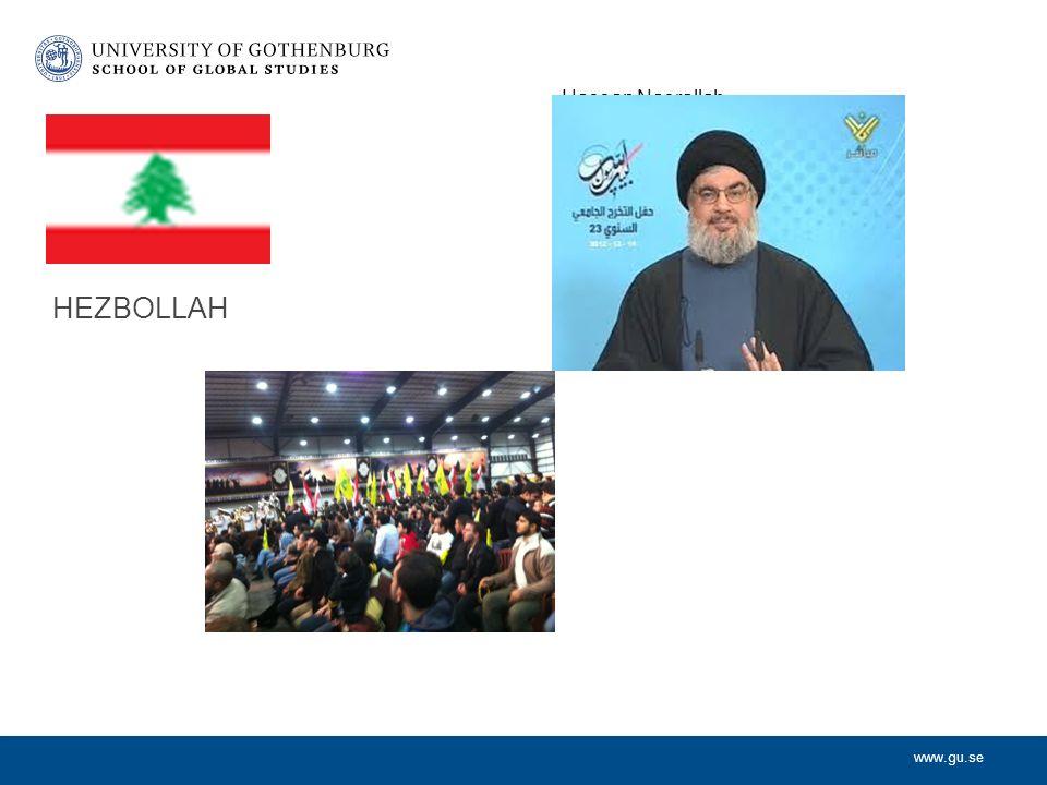 www.gu.se HEZBOLLAH Hassan Nasrallah