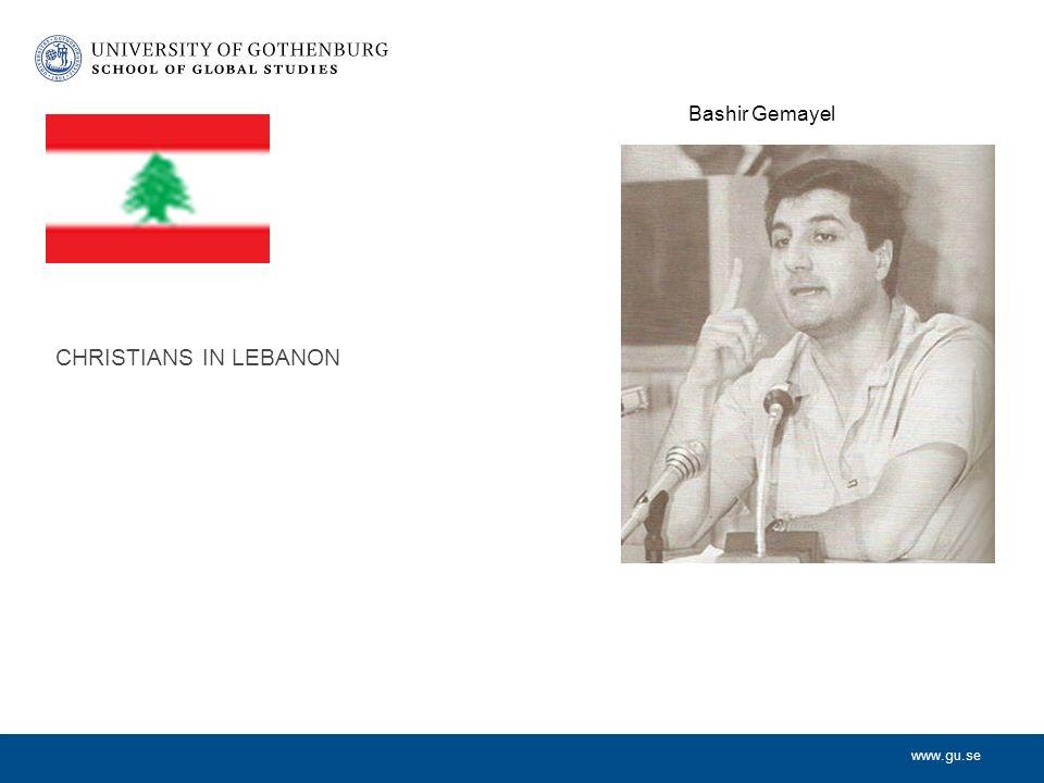www.gu.se CHRISTIANS IN LEBANON Bashir Gemayel