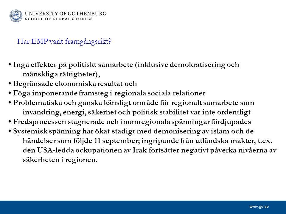 www.gu.se Har EMP varit framgångsrikt.