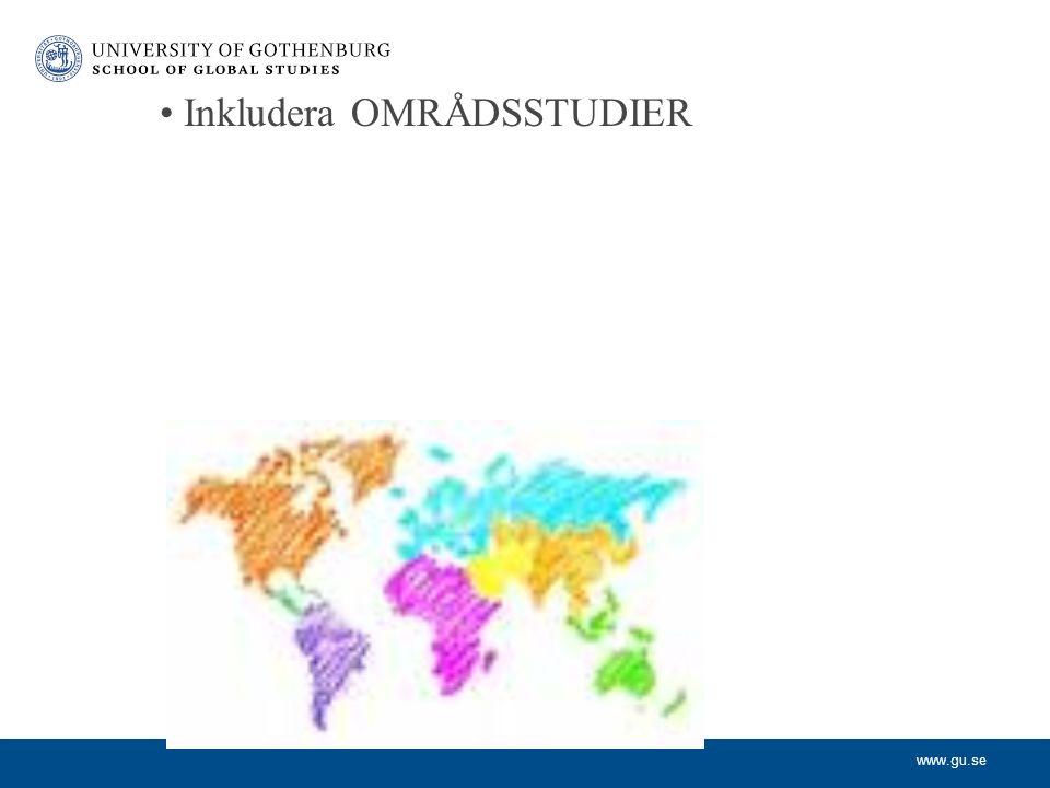 www.gu.se Inkludera OMRÅDSSTUDIER