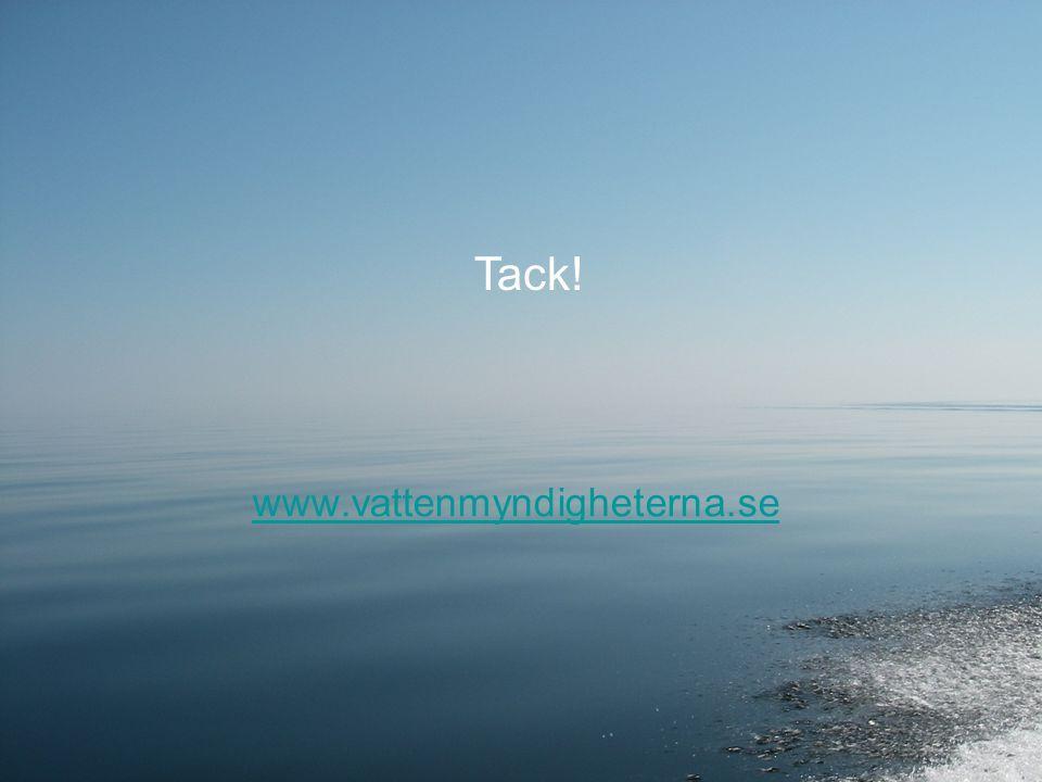 www.vattenmyndigheterna.se Tack!