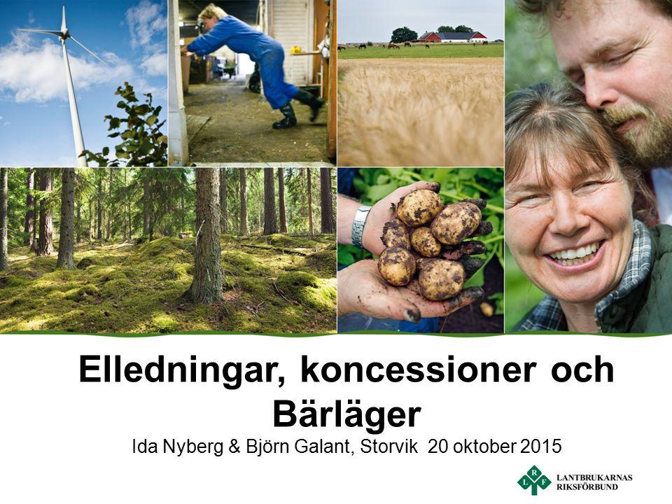 Elledningar, koncessioner och Bärläger Ida Nyberg & Björn Galant, Storvik 20 oktober 2015