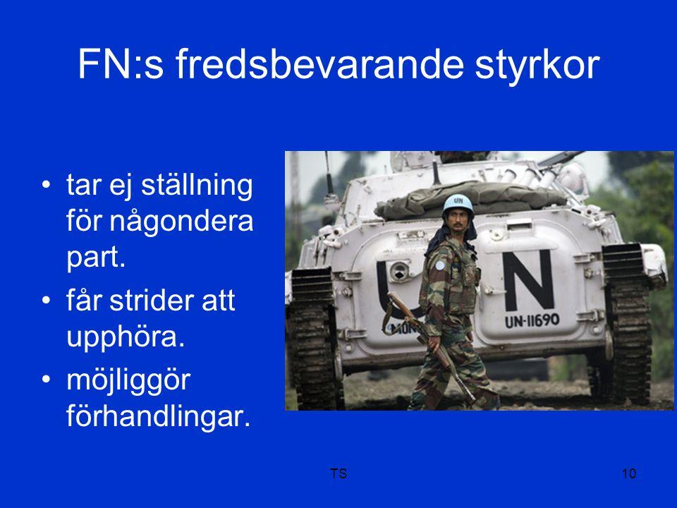 FN:s fredsbevarande styrkor tar ej ställning för någondera part.